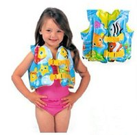 Wholesale Fish child inflatable swim vest child life vest male general