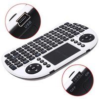 Wholesale 50pcs Rii Mini I8 Air Mouse G Wireless Remote Control Touchpad Handheld Keyboard for MX III M8 CS918 MXQ Android TV BOX Tablet Mini PC