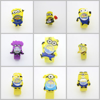 best slaps - Factory price new D Eye Despicable Me minion Children slap Watches best gift for Girs boys