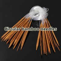 Wholesale Set Bamboo Carbonize Circular Knitting Needles Pins cm Size mm mm TY700