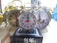antique weight clock - Fly manually wound mechanical alarm clock combined retro lazy to pull its weight watches mechanical clockwork metal small alarm clock free s
