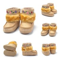 Boy baby snowboots - Hot Floral Embroidery Baby Snowboots Kids Baby Winter Warm Slip On Shoes M