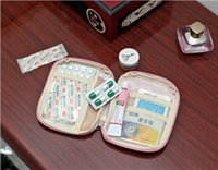 Wholesale Travel necessary smart portable first aid pouch nylon medicine pills or gadgets take along with mini outdoor pocket
