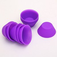 Wholesale Round Soft Silicone Cake Muffin Chocolate Cupcake Liner Baking Cup Mold