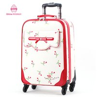 Wholesale trolley luggage travel bag suitcase on wheels valise sets Pu