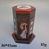art hardwood - Oriental Vintage Chinese Hardwood Seal Box Exquisite picture Carved Decorative