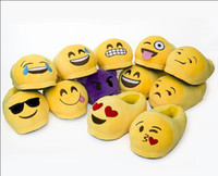 Wholesale 2016 New arrival Winter Emoji Smiley cotton Slippers Emotion Yellow QQ Expression cute cartoon Slipper style vgni7