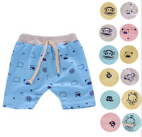 Wholesale 16 Colors Baby Boys Cartoon Crochet Shorts harem pants Infant PP Pants Can open file Children Trousers boys Clothing Kids Wear