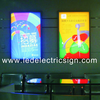 advertising profile - Ultra Thin LED Light Box Frame Profile Display with Magnetic LED Light Box Open with a Suction Cup