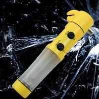 emergency car tool flashlight - Car safety hammer life saving hammer Car tool safety hammer emergency lamp flashlight in multifunction