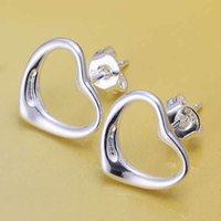 Wholesale E099 Lose money Promotion silver earrings silver fashion jewelry Warm Heart Earrings