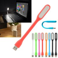 Wholesale Flexible USB LED V Bendable Mini Slim Light Lamp For Laptop Notebook PC Reading