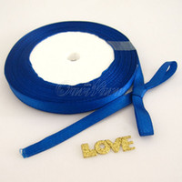 Wholesale 1 Roll Yards quot mm Royal Cobalt Dark Deep Blue Satin Ribbon Craft Bow Wedding Present Supply Decor Hot New