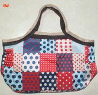 Fourre shopper sac sac en nylon imprimé shopping support gadgets organisation sac à main petit 15 styles