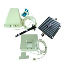 aws signal booster - 65dB High Gain MHz Cell Phone Signal Booster Panel and Log periodic Antenna Complete Kit for G GMS AWS Network