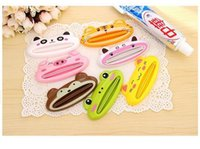 Wholesale 1PC Home Animal Cartoon Frog Bathroom Tube Dispenser Toothpaste Cream Squeezer Z367