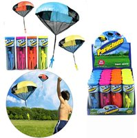 Wholesale DHL Parachute with Figure Soldier Flying Toys for Kids Children Outdoor Sport Play Toys