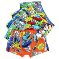Wholesale Fashion Spiderman Cotton Boxers Kid Boy Boxer Briefs Underwear Underpants Childrens Briefs Boys Underwear