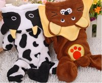 Coats, Jackets & Outerwears Fall/Winter Halloween New Winter Coral Velvet Cows Lion Turned Pet Dog Clothes Pet Clothing Dress For Dog Hoodies-37