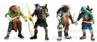 Wholesale 2015 New Teenage Mutant Ninja Turtles Movie Version quot Action Figure TMNT set Collection Toys with weapons inch