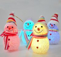 beautiful christmas trees - Christmas decoration and gifts Christmas snowman doll flash luminous Christmas tree ornaments beautiful in the dark