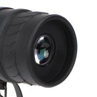 Cheap Wholesale-16x52 Black Plastic Dual Focus Monocular Telescope For Better View 8000M