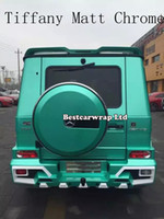 air release vinyl - Tiffany Satin Chrome Car Wrap Vinyl with Air Release Chrome Matte Tiffany blue For Vehicle covering Sticker foil size1 x20m Roll