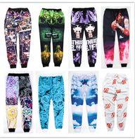 Wholesale fashion men women sports jogging pants D print Tupac Pac emoji Iverson skinny sweatpants running joggers trousers