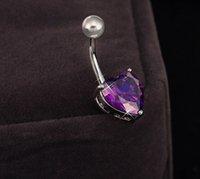 Wholesale New fashion Body Piercing Jewelry Steel Navel Ring Belly Rhinestone Button Bar Heart Star