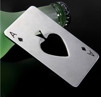 ace poker card - Hot Sale Poker Playing Card Ace of Spades Bar Tool Soda Beer Bottle Cap Opener Gift