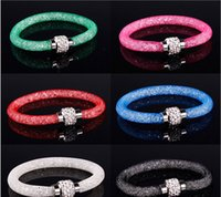 Wholesale 2015 Stardust bracelets Hot sale crystal stardust wrap bracelets mix Crystal Shamballa beads Magnetic Bracelets women pulseras SL001
