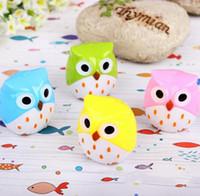 Wholesale 1 Random Color Mini Funny Cute Lovely Owl Pattern Pencil Sharpener School Kid s Favorite