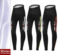 Wholesale Hot new Winter Thermal Fleece Long Cycling Cycling pants Roupa Ciclismo Bike Wear thermal cycling jersey pants