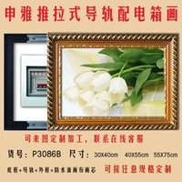 Wholesale Push pull distribution box painted gas meter box stays blocked decorative painting canvas painting framed painting fresh factory