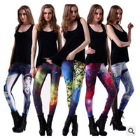 the four seasons - new fashion color optional Star printing tight leggings The four seasons can wear fitness nine minutes of pants leggings