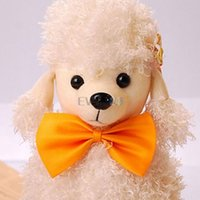 Wholesale Fashion Polyester Silk Pure Color Bowknot For Pets Random Color