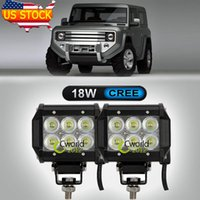 Cheap CREE 18W 4 Inch LED Work Light Bar Offroad Truck Auto SUV Car 4X4 Flood DRL Driving Lamp 4WD AWD ATV Truck IP68 Bumper Headlight