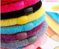 Wholesale Hair root rope Hair bands Joker candy color line pearl cotton rope Ms multicolor hair bands