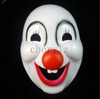 clown nose - Red Nose Clown Halloween Costume Mask Jolly Halloween Masquerade Masks Festive Party Supplies Party Masks C1400