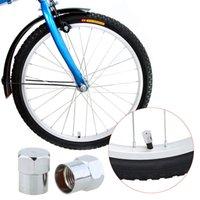 Wholesale 2pcs Road Bicycle Valve Cap Motor Bike Car Valve Mouth Cover Tyre Valve Cap Wheel Rims Stem Air Valve Dust Cap