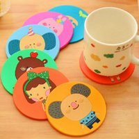 bamboo table mat - Novelty Silicone D Thick Tea Cup Cushion Drinks Place Holder Mats Pads Table Decoration Accessories