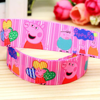 Wholesale 7 quot mm Cartoon Popular Patterns Printed Grosgrain Ribbon for Girl Hair Bow DIY Decos Yards aa8