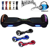Wholesale Bluetooth Speaker Hoverboard Electric Scooter with LED Light inch Tyre Two Wheels Smart Balance Drifting Board Self Balancing Skateboard