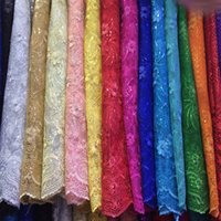 Wholesale African tulle lace with sequins embroidery wholesales African French net lace fabric for dress many colors in stock yards a piece FN3929
