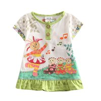 cotton night shirt - 2015 summer kids clothing y y baby girls dress in the night garden baby clothes white dresses for girls t shirt dress pieces per