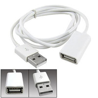 Wholesale White PVC Metal USB Male to Female Extension Adapter Cable Cord m Ft ABC