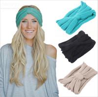Womens Vintage Crochet Headwrap bonnets automne hiver bandeaux élastiques Bohème cheveux accessoires coiffure tête encapsule Turban Bandanas WHA26