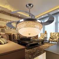 Wholesale decorative inch acrylic blades ceiling fan light for dining room modern fancy ceiling fan lamp