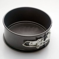 aluminum party trays - 7 inch D18 cm H5 cm Non Stick Spring Form Pan Baking Round Tray Cake Tin DIY Birthday Party