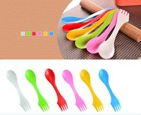 Wholesale Spork lunchbox Utensil Camping Hiking Spoon Fork Combo Backpacking Bento Outdoor